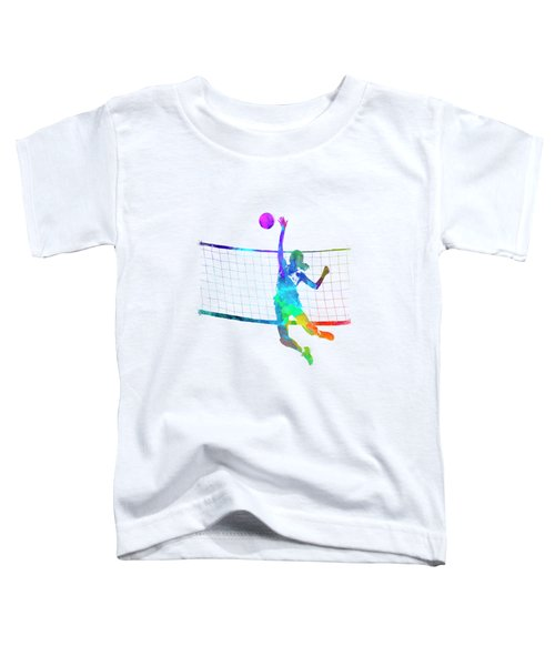 Woman Volleyball Player In Watercolor Toddler T-Shirt