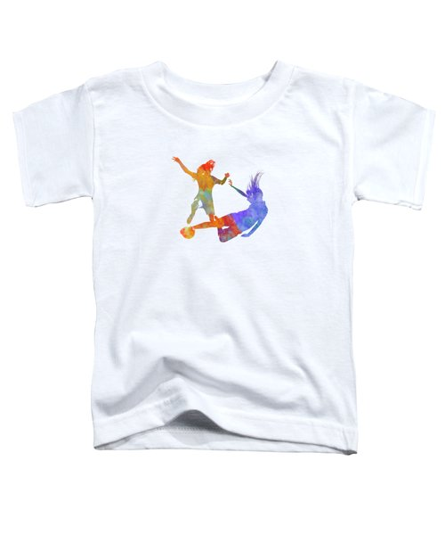 Women Soccer Players 02 In Watercolor Toddler T-Shirt