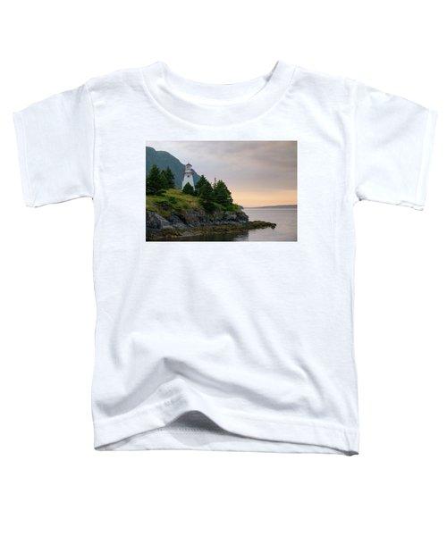 Woody Point Lighthouse - Bonne Bay Newfoundland At Sunset Toddler T-Shirt