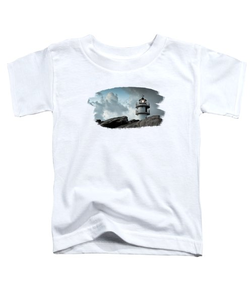 Working Lighthouse Isolated On White Toddler T-Shirt