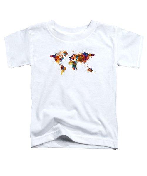 World Map Toddler T-Shirt