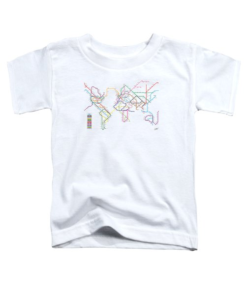 World Metro Tube Subway Map Toddler T-Shirt
