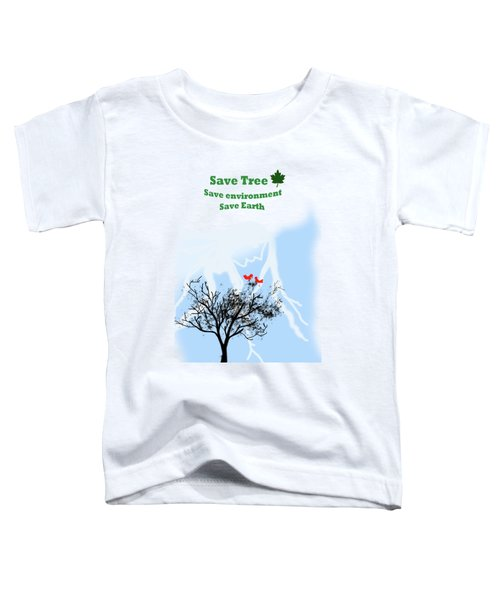 World With Tree Toddler T-Shirt