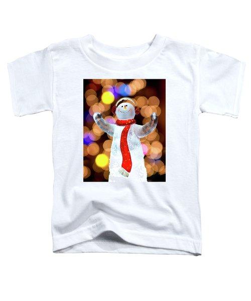 Worshiping Snowman Toddler T-Shirt