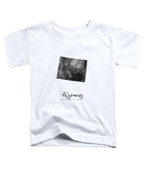 Wyoming State Map Art - Grunge Silhouette Toddler T-Shirt