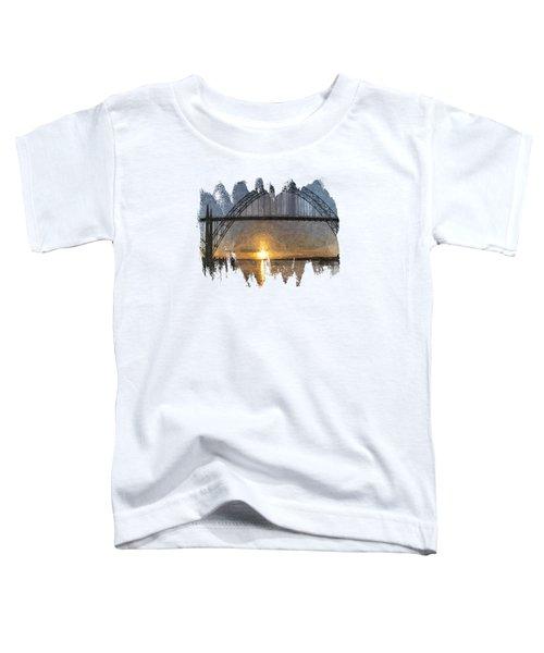 Yaquina Bay Sunset Toddler T-Shirt