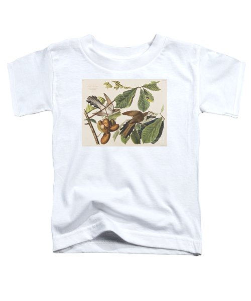 Yellow Billed Cuckoo Toddler T-Shirt by John James Audubon