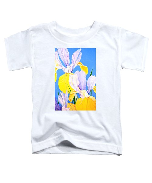 Yellow Irises-posthumously Presented Paintings Of Sachi Spohn  Toddler T-Shirt