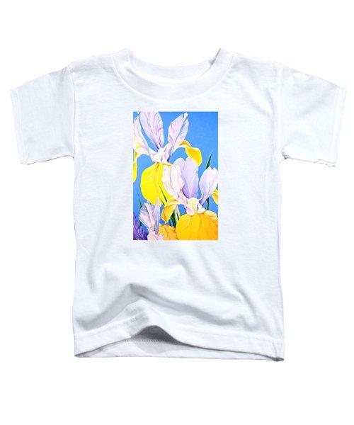 Yellow Irises-posthumously Presented Paintings Of Sachi Spohn  Toddler T-Shirt