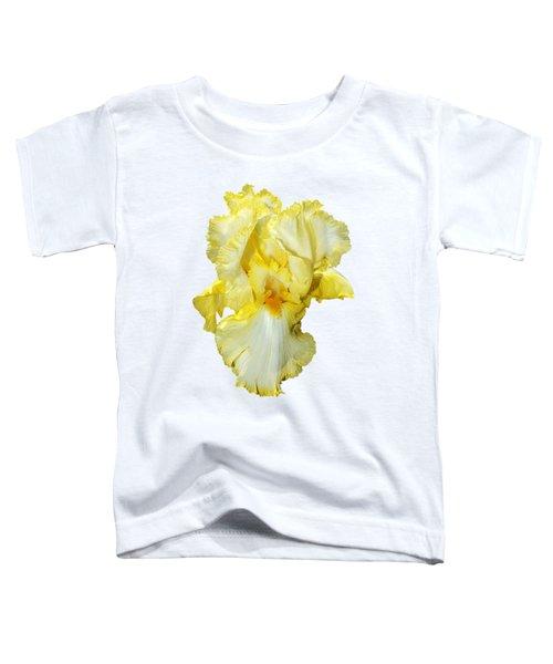 Yellow Mist Iris Toddler T-Shirt by Phyllis Denton