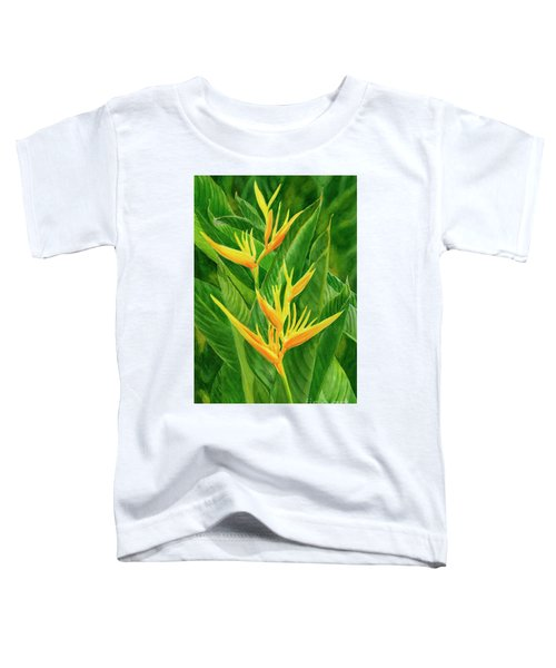 Yellow Orange Heliconia With Leaves Toddler T-Shirt
