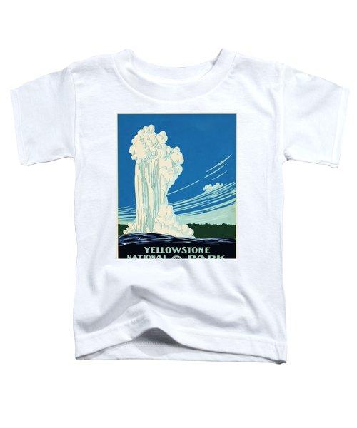 Yellow Stone Park - Vintage Travel Poster Toddler T-Shirt