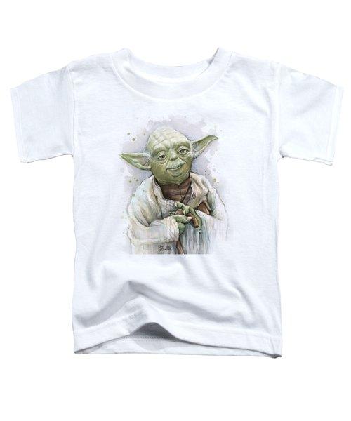 Yoda Toddler T-Shirt by Olga Shvartsur