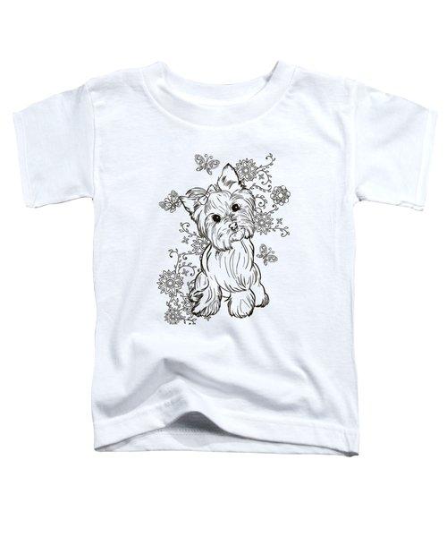 Yorkie Terrier Toddler T-Shirt