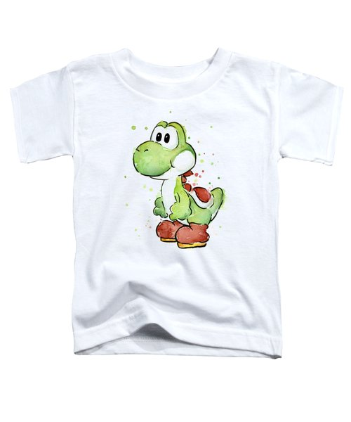 Yoshi Watercolor Toddler T-Shirt by Olga Shvartsur