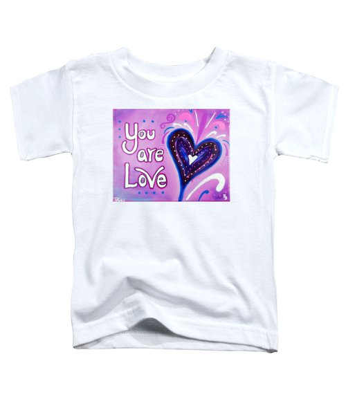 You Are Love Purple Heart Toddler T-Shirt