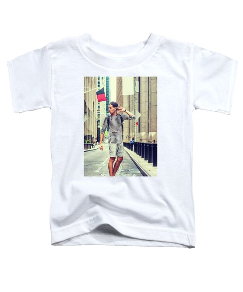 Young Russian Man Traveling In New York Toddler T-Shirt
