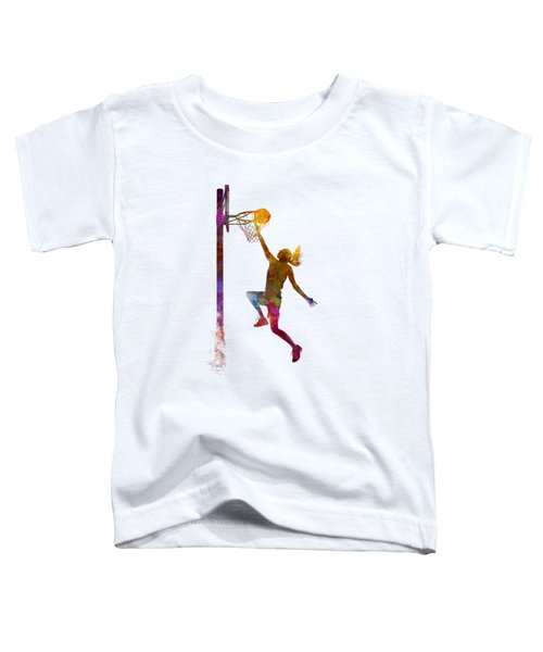 Young Woman Basketball Player 04 In Watercolor Toddler T-Shirt by Pablo Romero