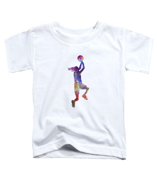 Young Woman Basketball Player 05 In Watercolor Toddler T-Shirt