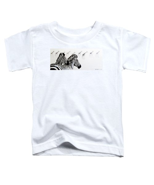 Zebra And Giraffe Toddler T-Shirt