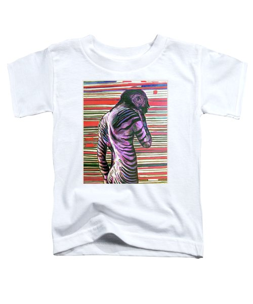 Zebra Boy Battle Wounds Toddler T-Shirt