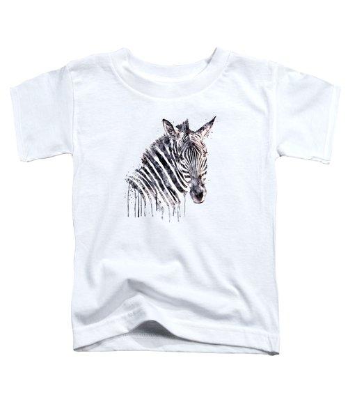 Zebra Head Toddler T-Shirt by Marian Voicu
