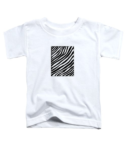 Zebra Toddler T-Shirt by Konstantin Sevostyanov
