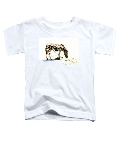 Toddler T-Shirt featuring the photograph Zebra Stripes by Stephen Mitchell