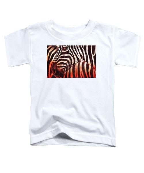 Zebra Sunset Toddler T-Shirt