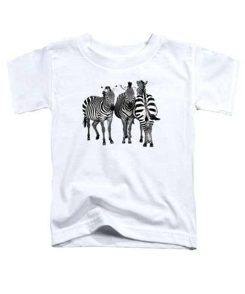 Zebra - Three's A Crowd Toddler T-Shirt by Gill Billington