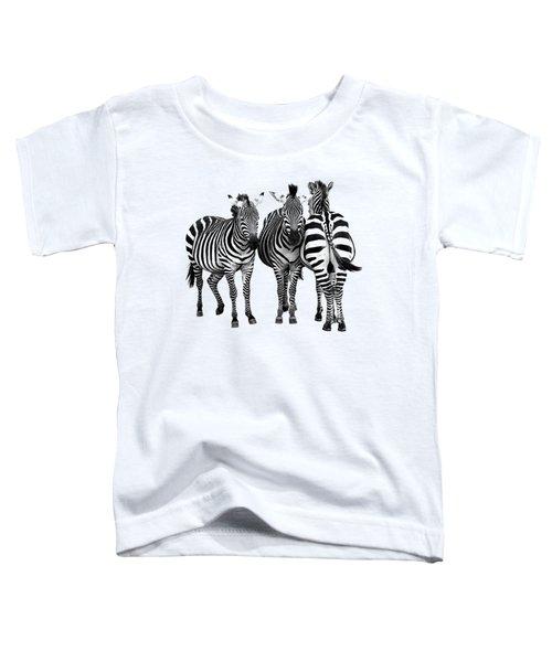 Zebra - Three's A Crowd Toddler T-Shirt