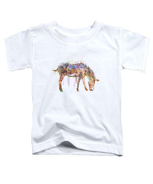 Zebra Watercolor Painting Toddler T-Shirt