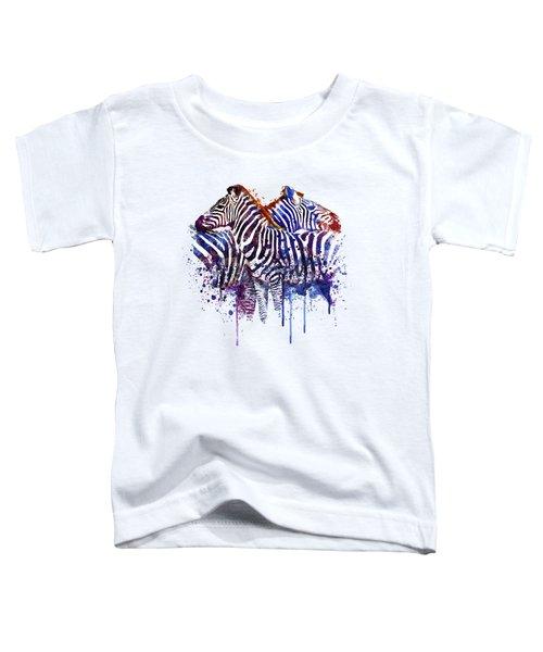 Zebras In Love Toddler T-Shirt by Marian Voicu
