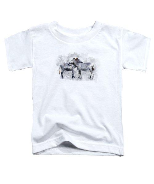 Zebras Toddler T-Shirt by Marlene Watson