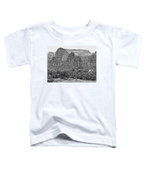 Zion Canyon Monochrome Toddler T-Shirt
