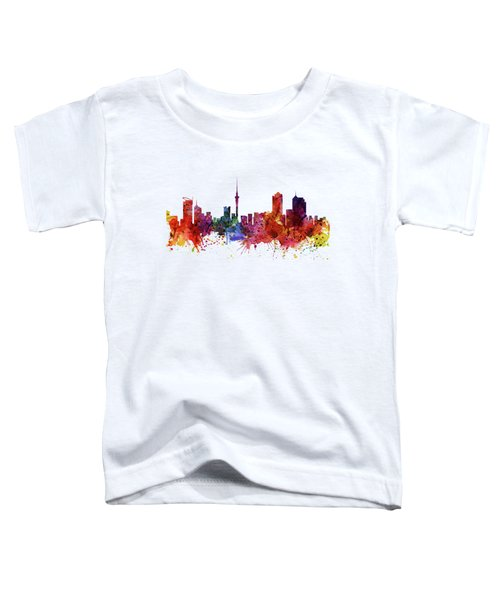 Auckland Watercolor Skyline Toddler T-Shirt