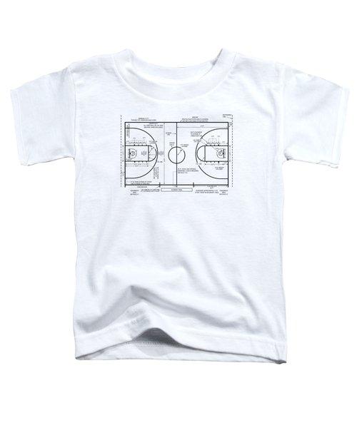 Basketball Court Toddler T-Shirt