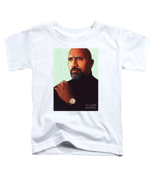 Dwayne Johnson Artwork Toddler T-Shirt