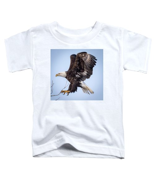 Eagle Coming In For A Landing Toddler T-Shirt