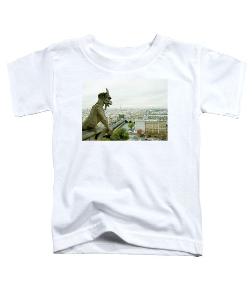 Gargoyle Statue At A Cathedral, Notre Toddler T-Shirt