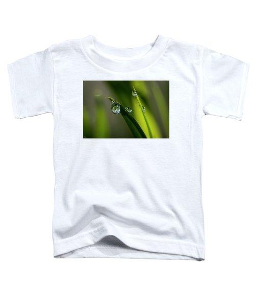 Rain Drops On Grass Toddler T-Shirt