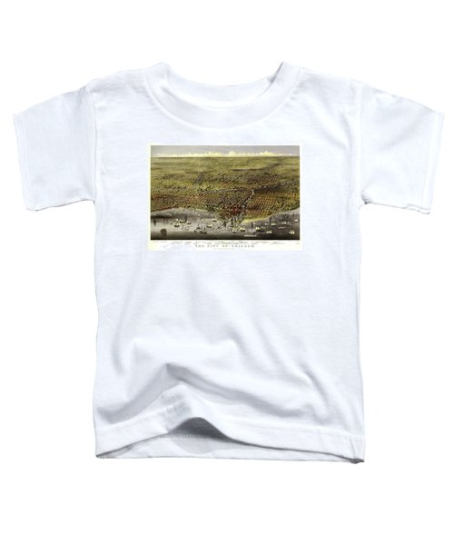 The City Of Chicago, 1868 Toddler T-Shirt