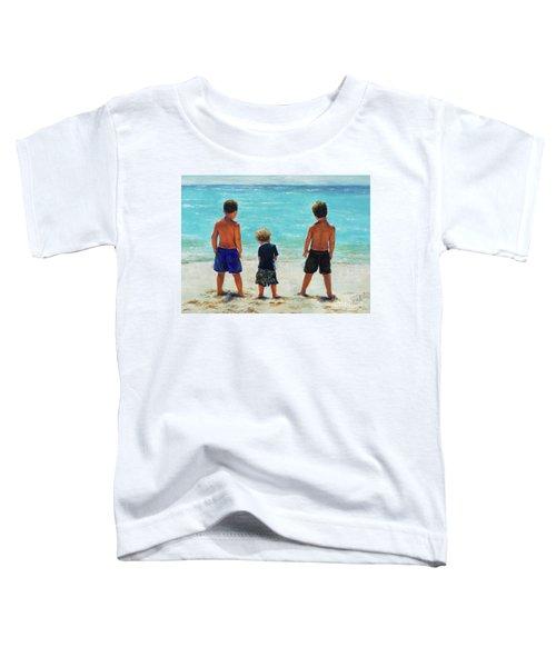 Three Beach Boys Aqua Sea Toddler T-Shirt