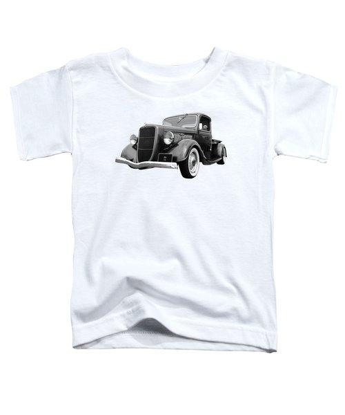 1936 Ford V8 In Black And White Toddler T-Shirt