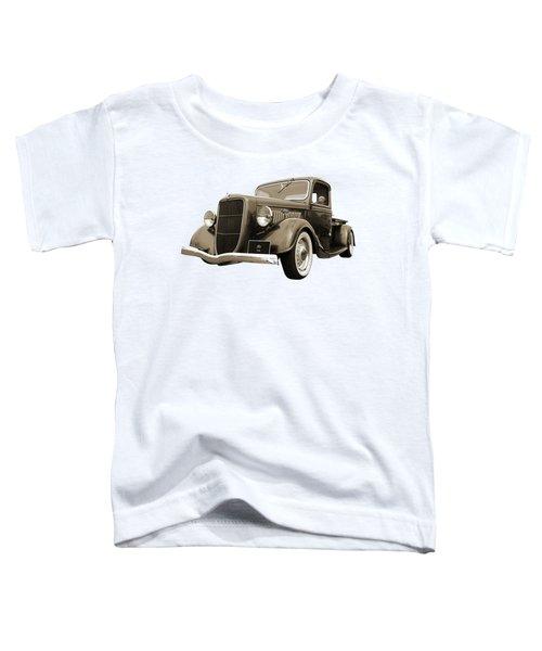 1936 Ford V8 In Sepia Toddler T-Shirt