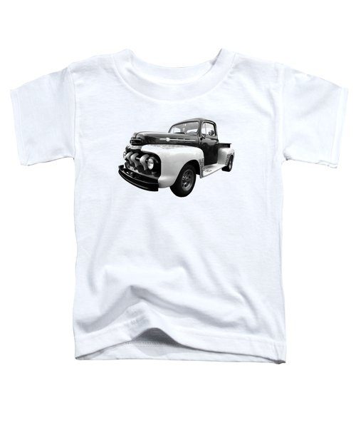 1952 Ford F-1 In Black And White Toddler T-Shirt