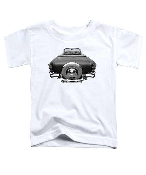 1955 Chevy Bel Air Convertible Black And White Toddler T-Shirt