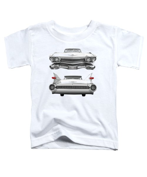 1959 Cadillac Front And Rear Vertical Toddler T-Shirt