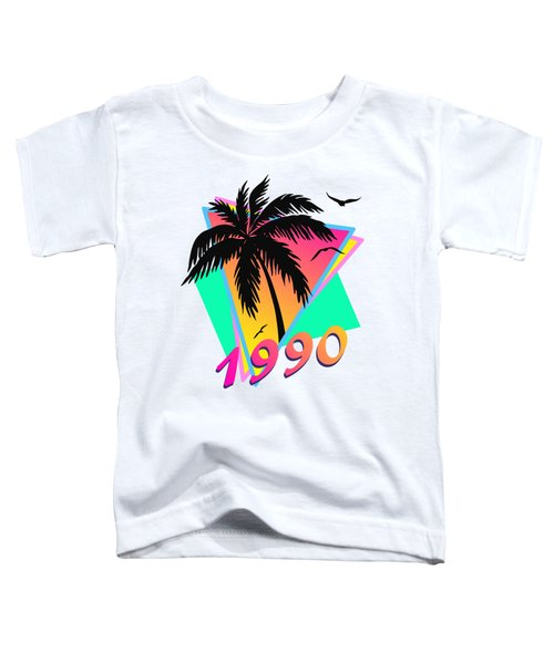 1990 Cool Tropical Sunset Toddler T-Shirt