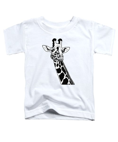 Giraffe - Ink Illustration Toddler T-Shirt